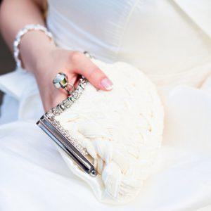 τσαντάκι νύφης για την ημέρα του γάμου