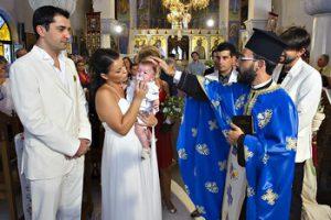 Φωτογράφιση βάπτισης μετά τον γάμο Chiaroscuro