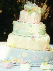 Χρωματιστή Τούρτα Γάμου