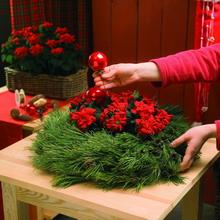 Χριστουγεννιάτικο διακοσμητικό στεφάνι step 2
