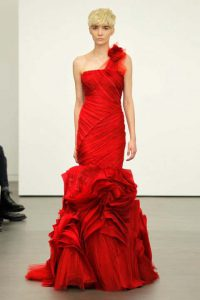 nyfika vera wang Scarlett mermaid gown with tiered