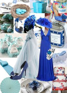 Mple gamos inspiration board gia idees xromatos blue
