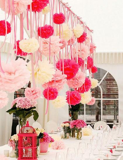 Декоры из бумажных шаров