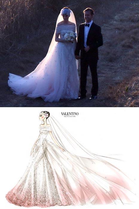 Anne Hathaway nyfiko Valentino