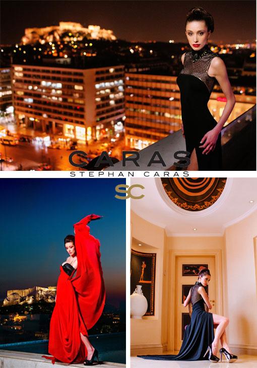 Οι δημιουργίες του Stephan Caras φωτογραφημένες στην Αθήνα με φόντο την Ακρόπολη