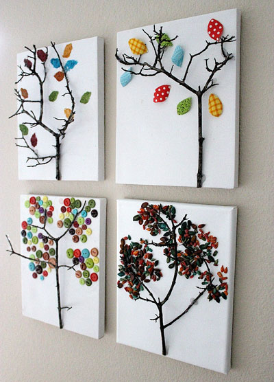 diy tree wall art
