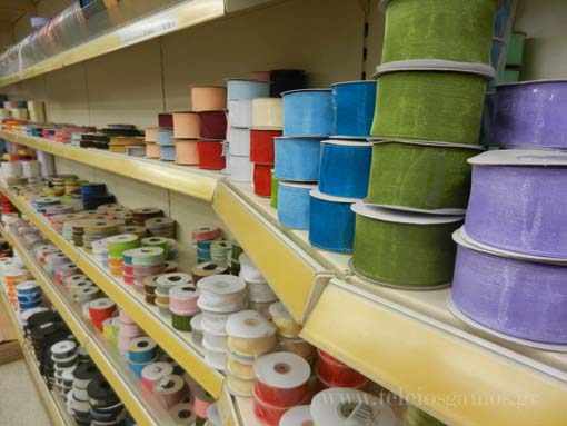 Χατζηδάκης οδός Ανθέων υλικά διακόσμησης χειροτεχνιών συσκευασίας