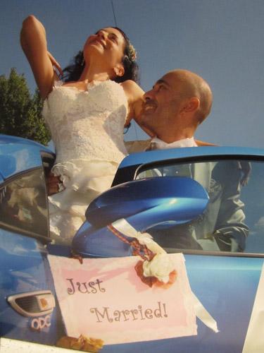 Real Wedding Marisa Dimitris roz gamos