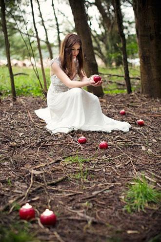 διακόσμηση γάμου με μήλα