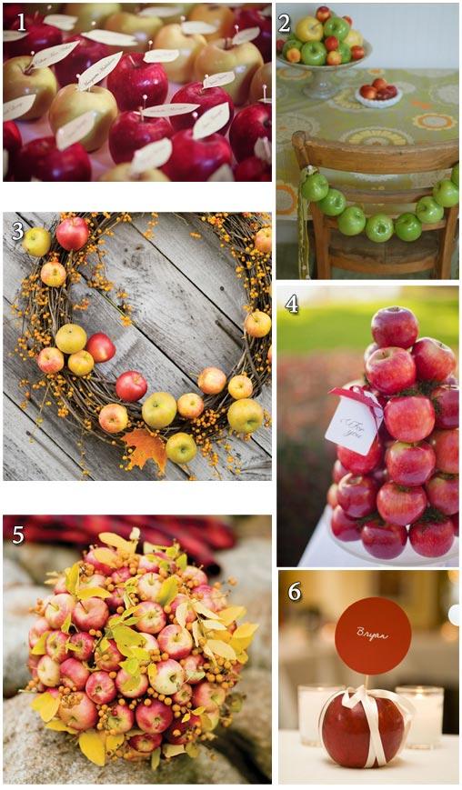 Ιδέες με μήλα για τη διακόσμηση ενός φθινοπωρινού ή χειμερινού γάμου