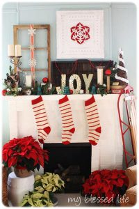 Χριστουγεννιάτικη διακόσμηση για το τζάκι
