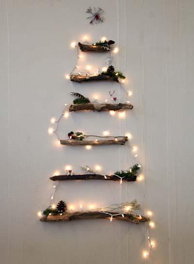 διακοσμητικά χριστουγεννιάτικα δέντρα από ξύλο