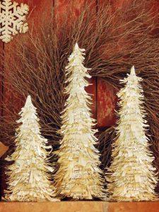 δεντράκια από χαρτί για τη χριστουγεννιάτικη διακόσμηση