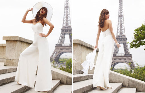 bridal jumpsuits wedding trend 2014