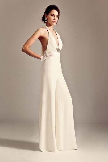 Temperley London bridal jumpsuit