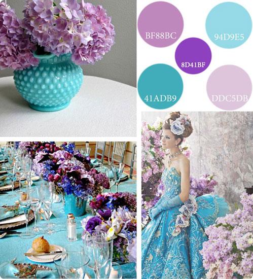 turquoise lilac syndiasmos xromaton gia ton gamo kai ti vaptisi