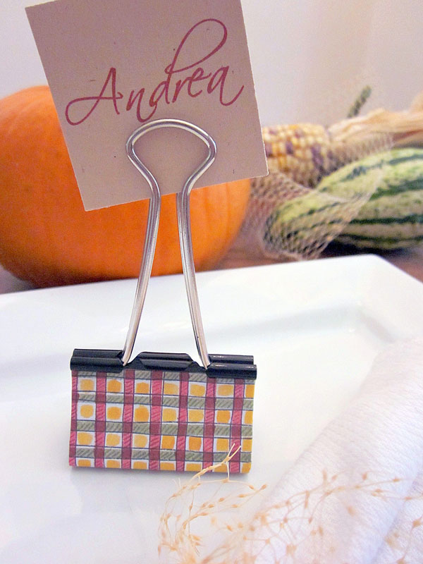diy place cards me binder clips