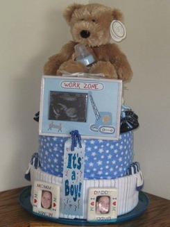 Diaper Cake με θέμα Teddy Bear