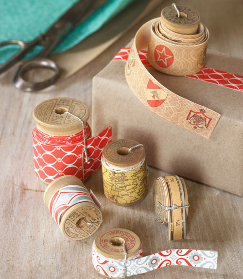 diy decorative tape from wrapping paper