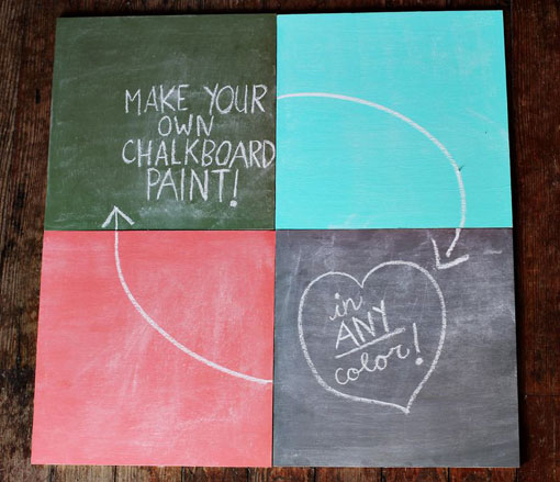 diy chalk paint for chalkboard