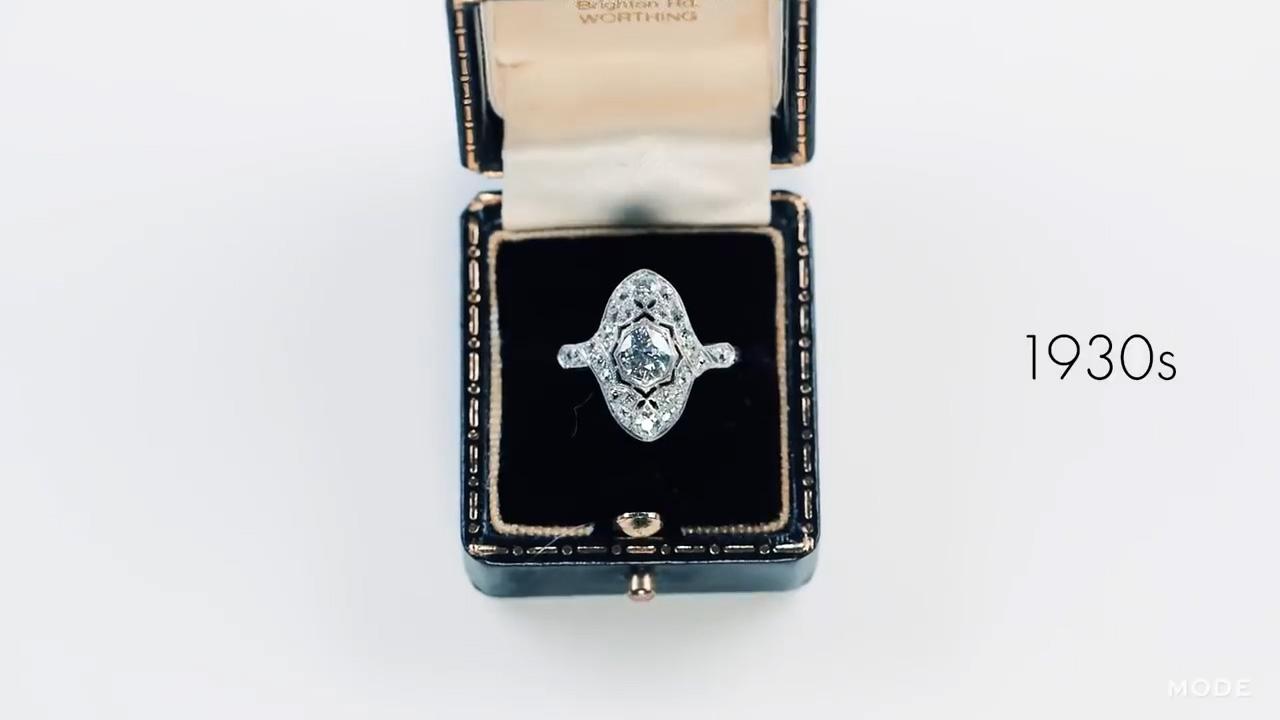 Μονόπετρο δαχτυλίδι αρραβώνων engagement ring 1930