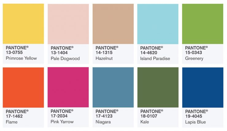 top10 pantone colors spring 2017