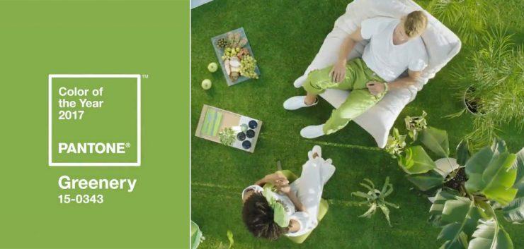 χρώμα γάμου Greenery pantone color of the year 2017