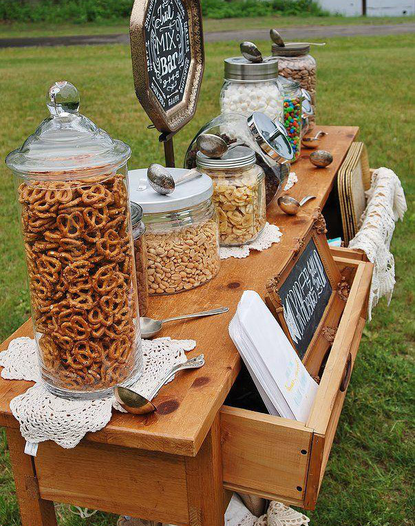 wedding trends snack bar welcome guests