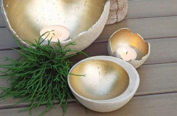 διακοσμητικά μπωλ από τσιμέντο diy bowl kiropigia kerakia tsimento