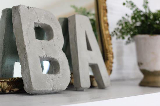 DIY τρισδιάστατα γράμματα concrete 3D letters grammata tsimento