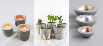 καλλιτεχνικό τσιμέντο για να φτιάχνετε διακοσμητικά αντικείμενα