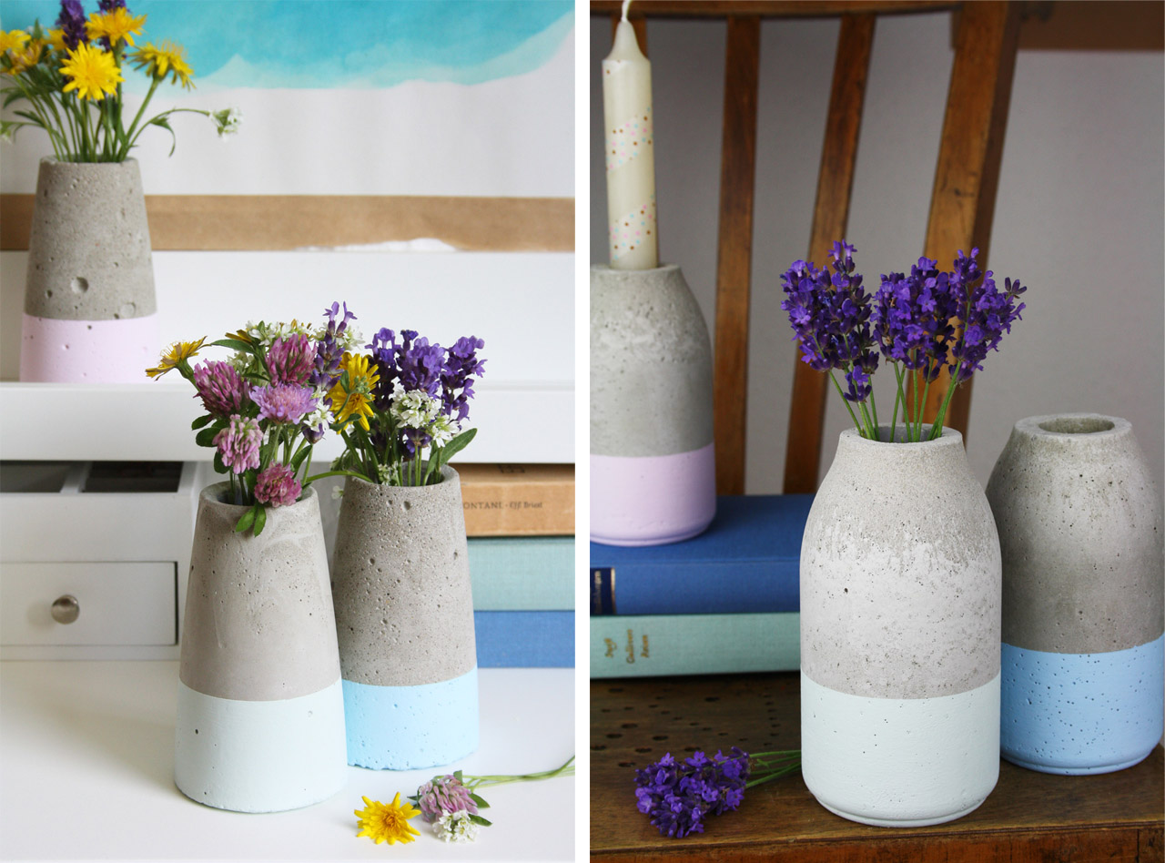 DIY τσιμεντένια βάζα tsimentenia concrete vase