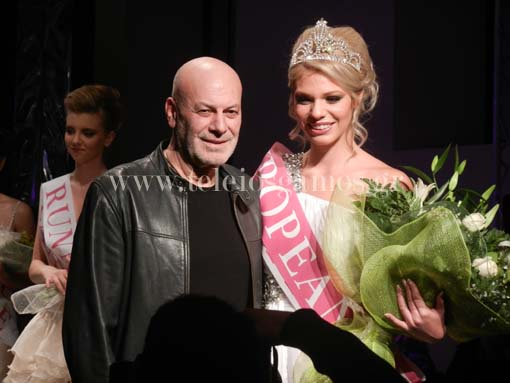Stephan Caras with European Bride 2013 Daniela Castano