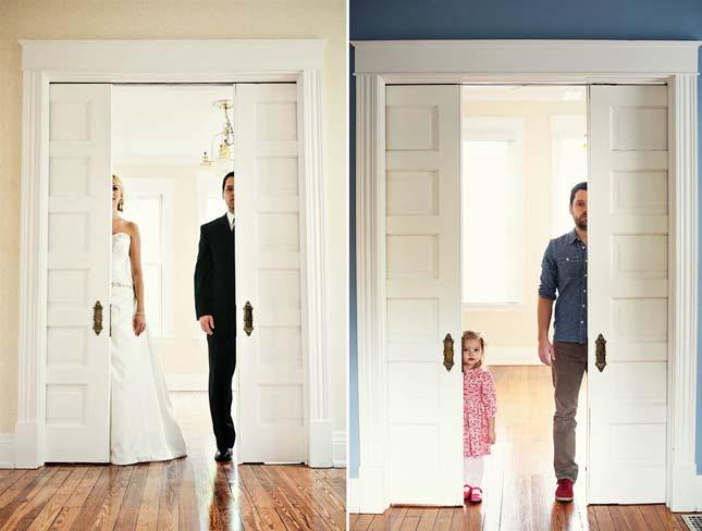Μπαμπάς και μαμά αριστερά, μπαμπάς και κόρη δεξιά