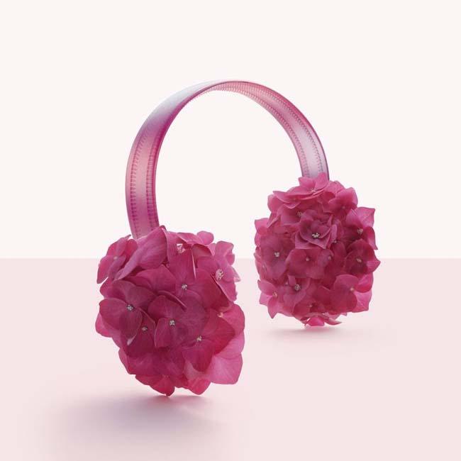 ακουστικά από λουλούδια