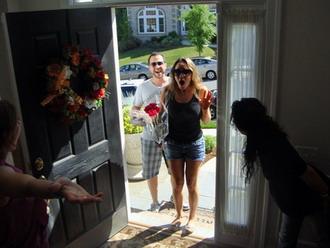 Η είσοδος της Καλομοίρας στο bridal party