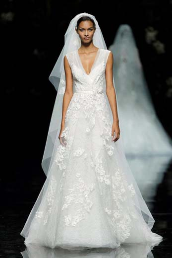 wedding dress pronovias elie saab 2013