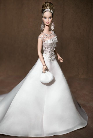 H Barbie με νυφικο Badgley Mischka