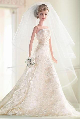Barbie με νυφικό Carolina Herrera