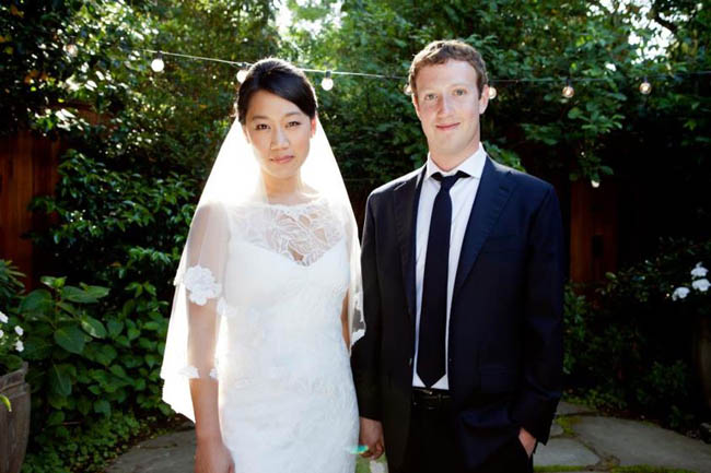 Facebook co-founder Mark Zuckerberg married Priscilla Chan and the wedding took place on 19 May