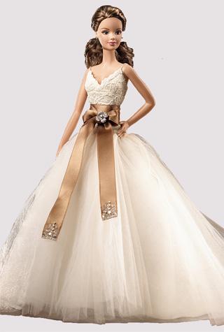 Η Barbie νύφη με νυφικο Monique Lhuillier