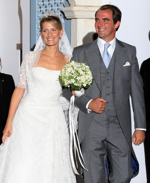Ο Νικόλαος και η Τατιάνα στον γάμο τους