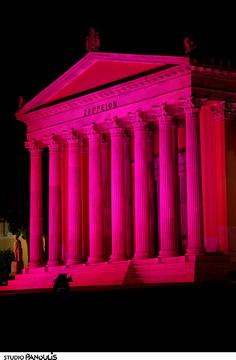 Το Ζάππειο έγινε ροζ για την εκστρατεία ενημέρωσης για τον καρκίνο του μαστού