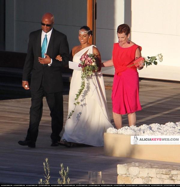 Η Alicia Keys στον γάμο της