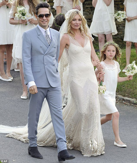 Kate Moss & Jamie Hince vintage wedding
