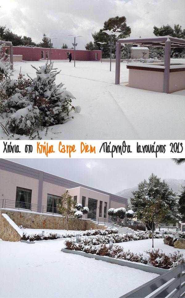 ktima carpe diem χιόνια 2013