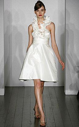 little white dress amsale wedding