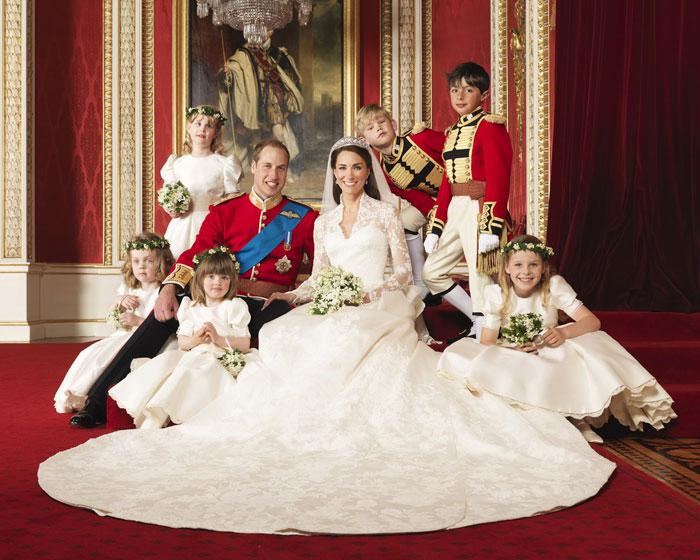 Αναμνηστική φωτογραφία από τον βασιλικό γάμο του πρίγκιπα William