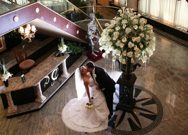 wedding reception foyer