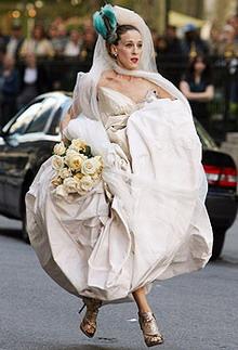 sex and the city carry bradshaw bride